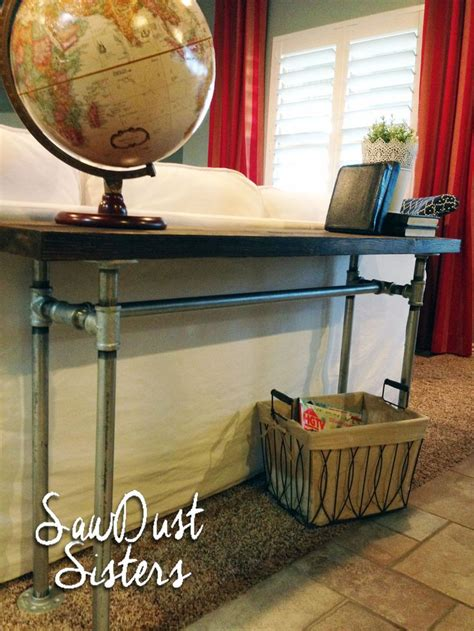 sofa table with pipe easy diy sofa table with pipe frame tables diy table