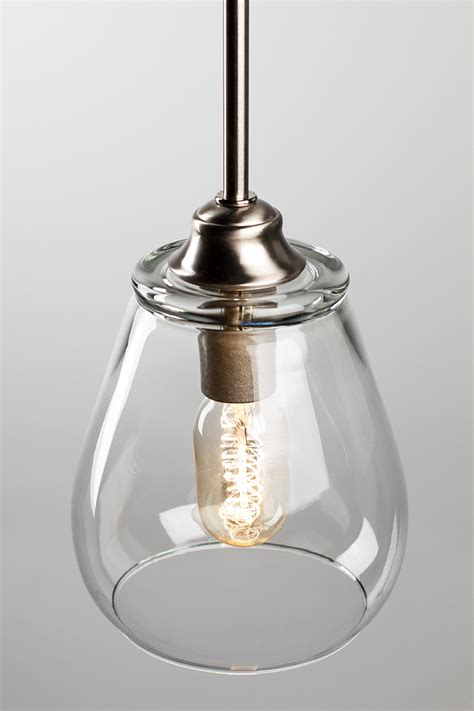 Edison Bulb Pendant Lights Pendant Light Fixture Edison Bulb Brushed Nickel Pear Dan Cordero