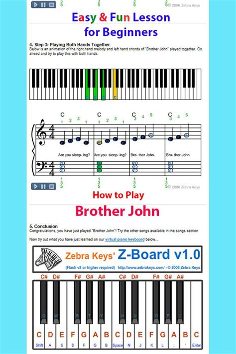 keyboard tutorial for beginners free 17 best images about learn songs for beginners on