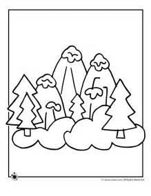 mountains coloring page mountain pictures mountains coloring page