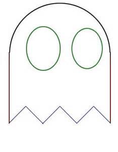 pacman ghost costume eye pattern