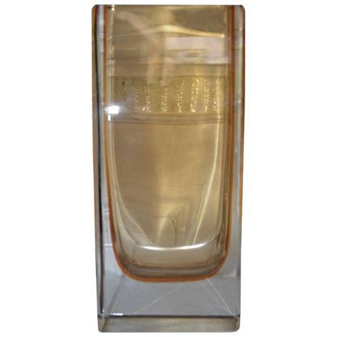 Large Rectangular Glass Vase by Large Yellow Rectangular Murano Vase For Sale At 1stdibs