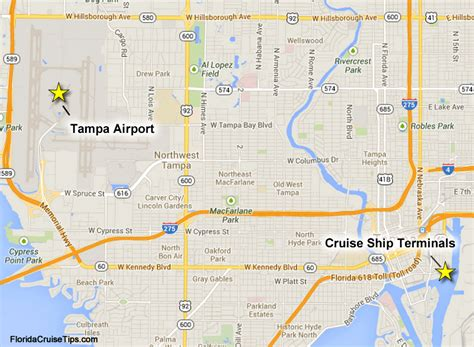 map of florida airports and ports getting to the ta cruise port port transportation
