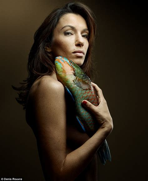 Atika Dres gillian strips to lead a host of posing with fish for charity daily mail