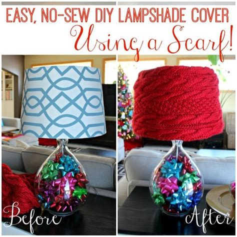 Diy No Sew Cover by Easy No Sew Diy Lshade Cover Using A Scarf Clever