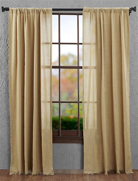tobacco cloth curtains khaki tobacco cloth curtain panels victorian heart the
