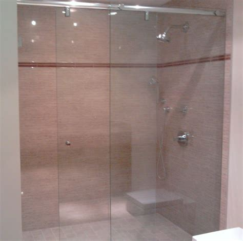 bathtub sliding glass door frameless glass shower units are popular in modern dallas homes