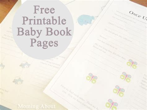 printable baby book template pages guest amanda free printable baby book pages