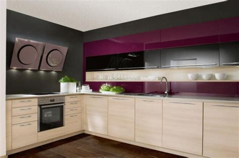 purple cabinets kitchen purple kitchens