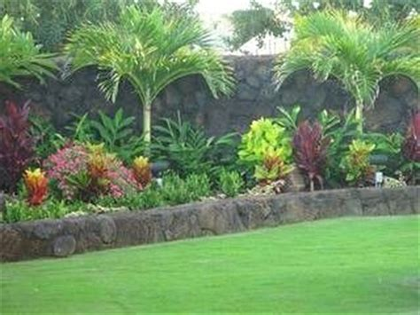 Tropical Backyard Landscaping by Tropical Landscape Island For Front Yard Bedroom Estate