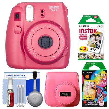 fujifilm instax mini 8 instant film camera (raspberry