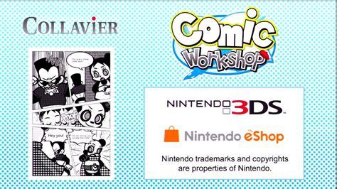 werkstatt comic comic workshop eshop nintendo 3ds trailer