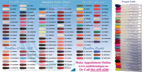 nexgen nails color chart new 156 colors of nexgen dipping powder yelp