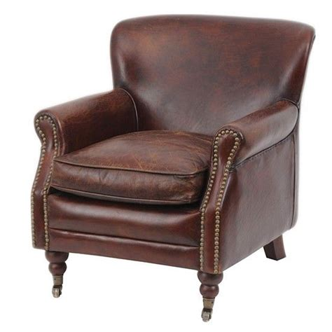 brown leather studded armchair pin by kate ives on chair