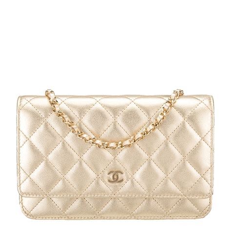 Sale Tas Wanita Lv Classic Woc chanel gold quilted lambskin classic wallet on chain woc world s best