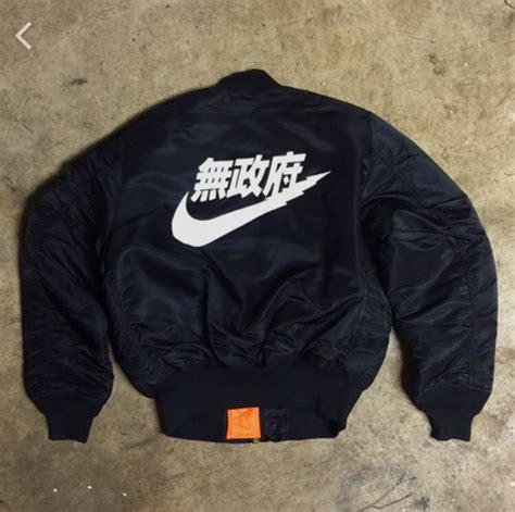 Coach Jaket Chion X Thrasher Black Air Tokyo Japanese Ma 1 Bomber Jacket Svpplysvpply