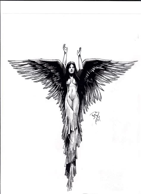angel tattoo drawings by jeremiah222 on deviantart