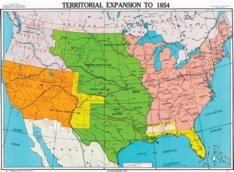 us history map territorial expansion to 1854 u s history map