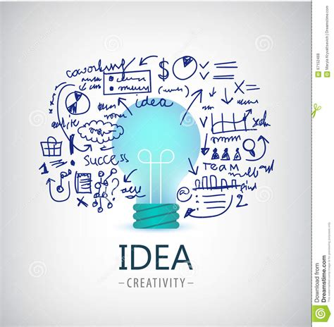 idea plans vector brainstorm illustration idea business logo icon