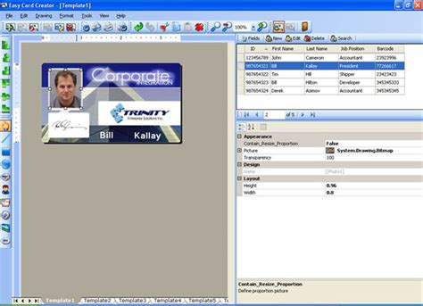 employee id card design software free badge maker for student id employee id cards and name tags