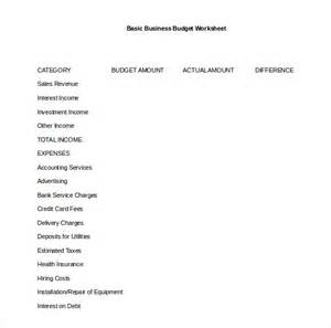 Simple Business Budget Template 12 Simple Budget Templates Free Sample Example Format