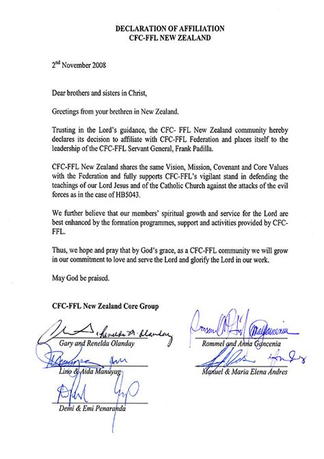 Support Declaration Letter Sle Immigration Support Letter For Friend