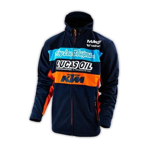 troy lee 2014 tld team jacket revzilla navy orange