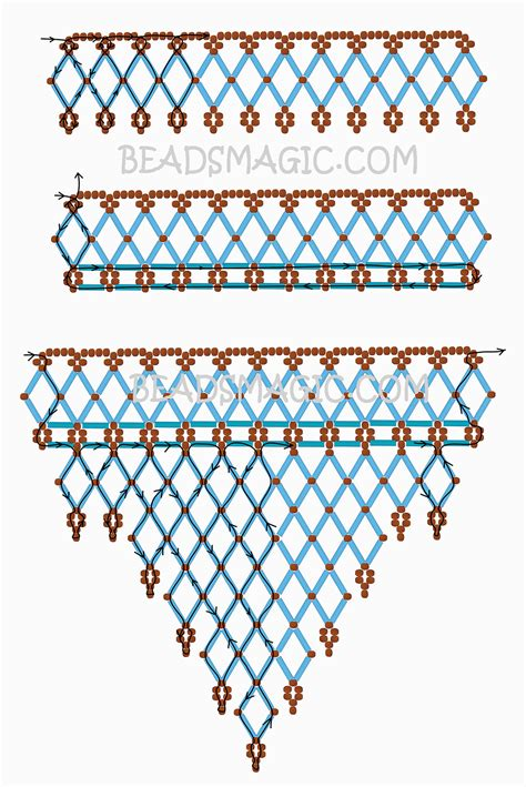 beading patterns free instructions free pattern for necklace waterfall beads magic