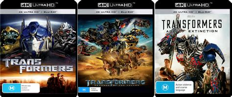 film blu ray 4k transformers all 4 live action films coming to 4k blu ray