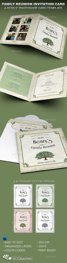 reunion invitation card templates family tree picture display i like personalizing things