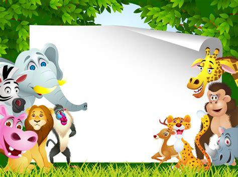 Set Of Cartoon Animal Paradise Vector 03 Free Download Animal Powerpoint Templates