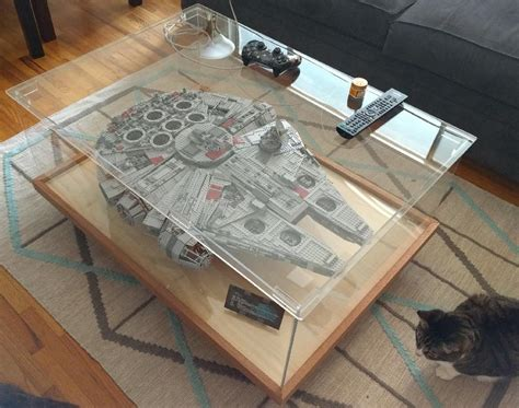 reddit diy lego table my display plan for the new falcon lego