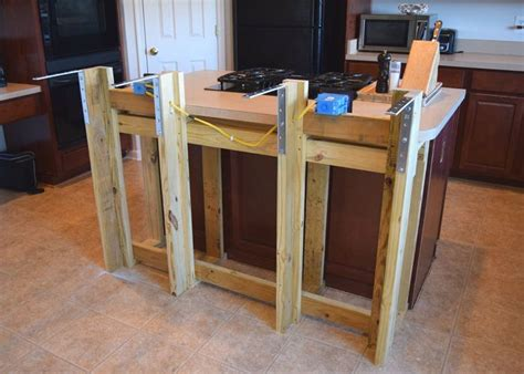 installing wine cooler in existing cabinet diy breakfast bar frame built to an existing kitchen