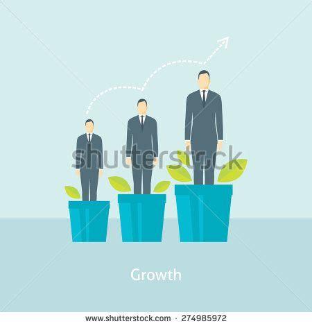 design management grow flat design vector illustration concept for personal