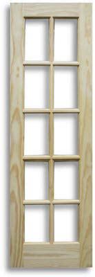 pine interior door 10 lite 24 quot w home surplus