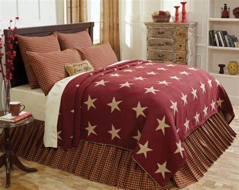 primitive bedding coverlets details about burgundy star queen or king coverlet
