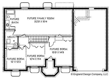 ranch basement floor plans ranch contemporary house plans home design edc r1448 8247