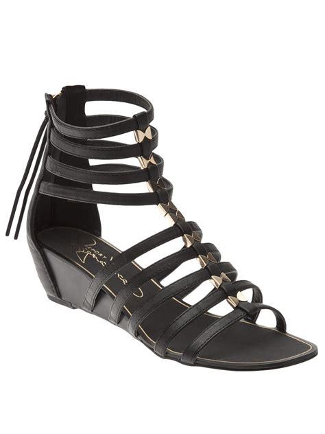 black gladiator wedge sandals report meliza gladiator sandal in black lyst