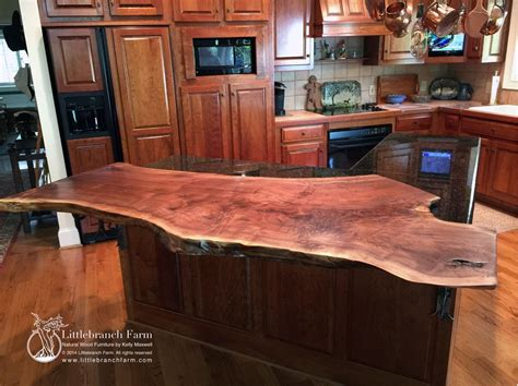 wood slab bar top natural wood countertops littlebranch farm