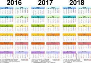 Kalender 2018 Hessen Rosenmontag Dreijahreskalender 2016 2017 2018 Als Excel Vorlagen Zum