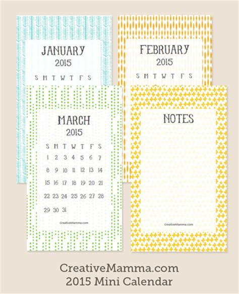 mini calendar template creative mamma calendars 2014 autos post
