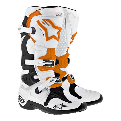 Kaos Alpinestars Motocross Biker Casual Apparel Bike Never Look Back aomc mx alpinestars tech 10 boots org wht