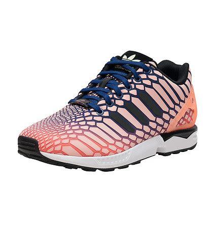 Adidas Xz Flux Glow In The adidas zx flux glow in the sneaker medium pink