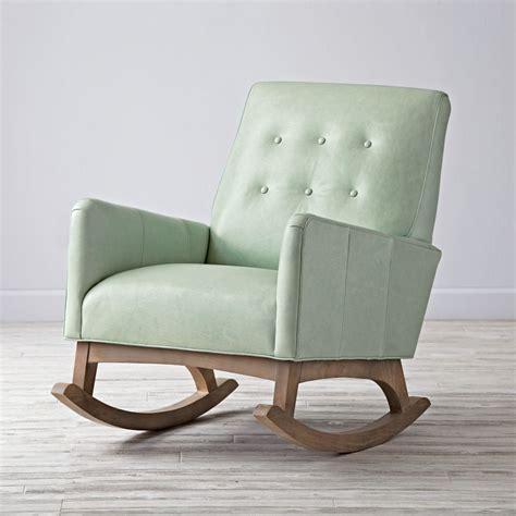 everly vintage upholstered rocking chair  land  nod