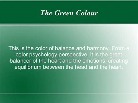 color psychology green green