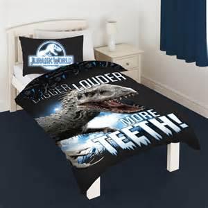 King Duvet On Queen Bed Monde Du Jurassique Set Housse De Couette Simple T Rex