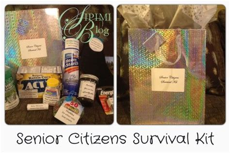 saw it pinned it made it senior citizens survival kit