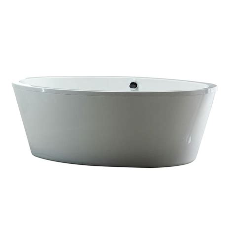 ove decors bathtub ove decors 5 6 ft acrylic freestanding flatbottom non whirlpool bathtub in white
