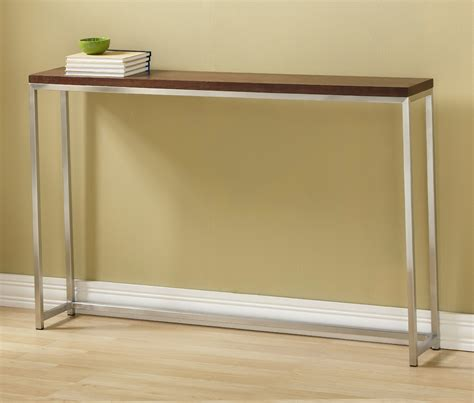 console table give stylish look to a hallway with narrow console table