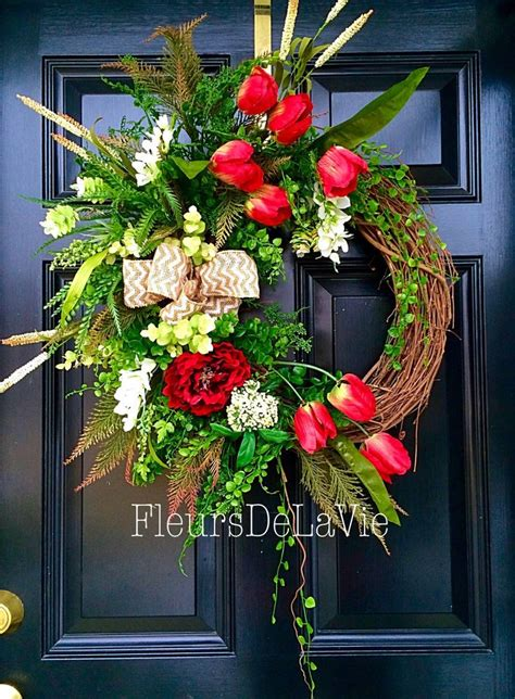 how to make a spring wreath for front door 1000 ideas about front door wreaths on pinterest front